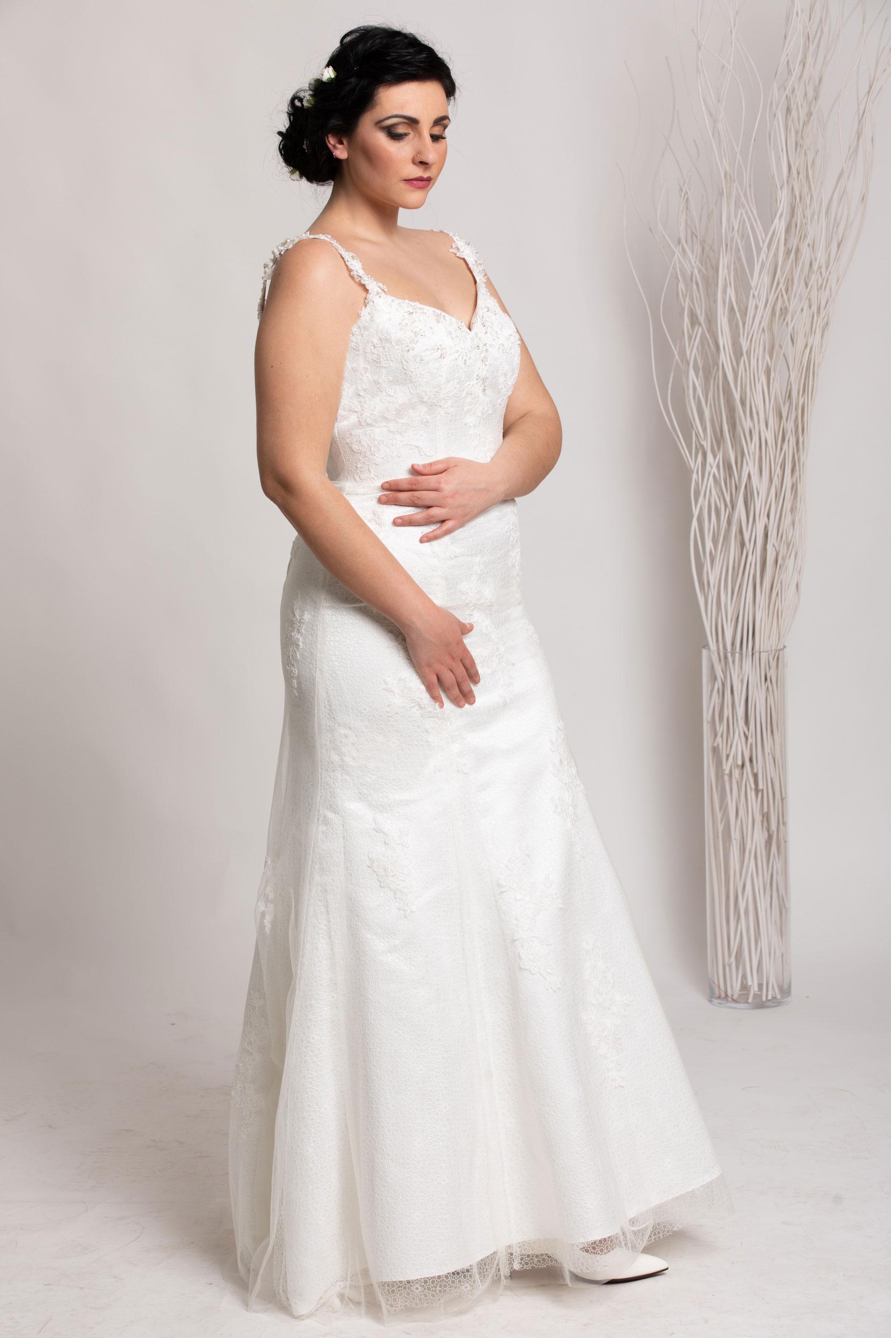 Abito Casa della Sposa Lecce Collezione Curvy modello Blanca